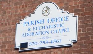 St. John the Evangelist Parish Office 414 Church St. Honesdale PA 18431