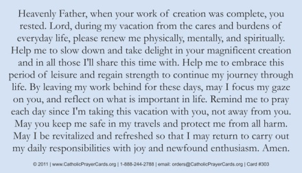 vacation prayer